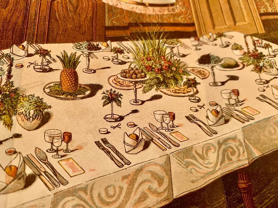 「ビートン夫人の家政本」再現チャレンジ Part3:テーブルセッティング編